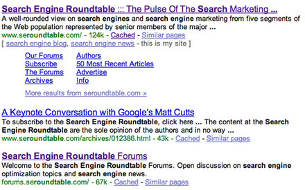 Search Engine Roundtable Results
